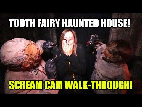 Tooth Fairy Haunted House Scream Cam Walkthrough POV! Knotts Scary Farm
