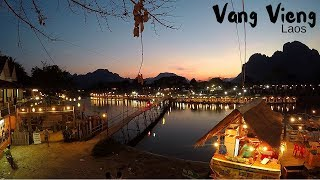 Hey!! No filmimg here!!   We return to VangVieng, Laos - Free drinks at the Sakura Bar