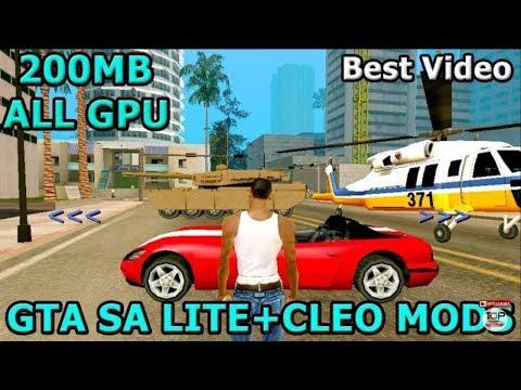 200mb GTA sa Cleo mods for all GPU 👍 GTA Sa lite Cleo mod
