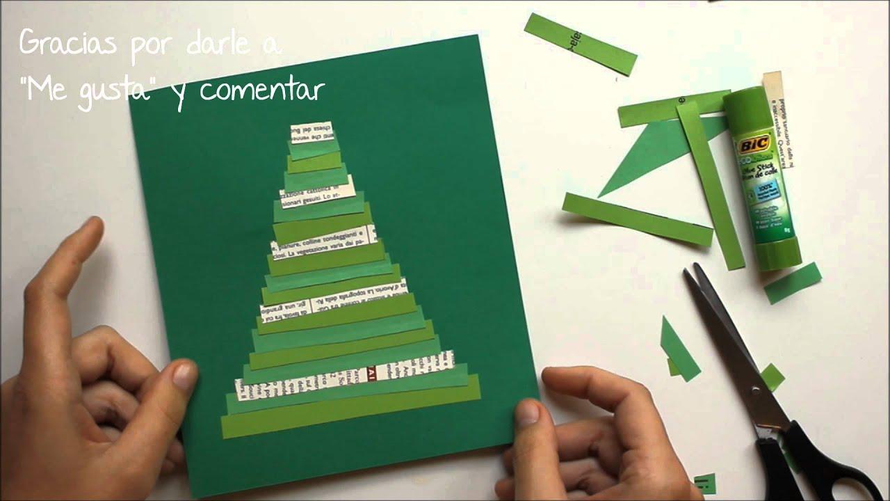 Tarjetas navide as f ciles para ni os hechas a mano youtube - Tarjetas de navidad hechas por ninos ...