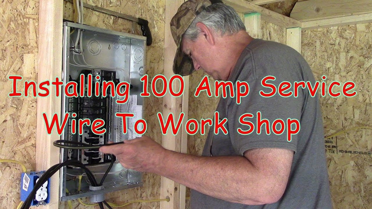 Installing 100 Amp Service Wire To Work Shop Youtube