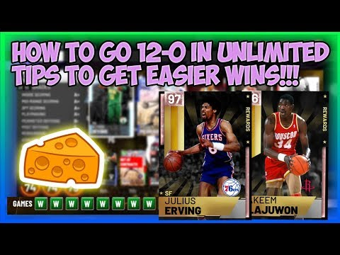 NBA2K19 TIPS TO GO 12-0 IN MYTEAM UNLIMITED - GET MATCHED UP WITH BAD PLAYERS - CHEESY METHOD!!!