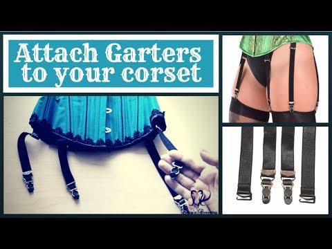 54af2cc9c6d Attach Garter Straps (Suspenders) to your Corset