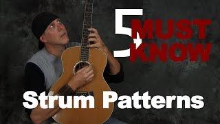 5 Must know guitar strum patterns (strumming & rhythm made simple)