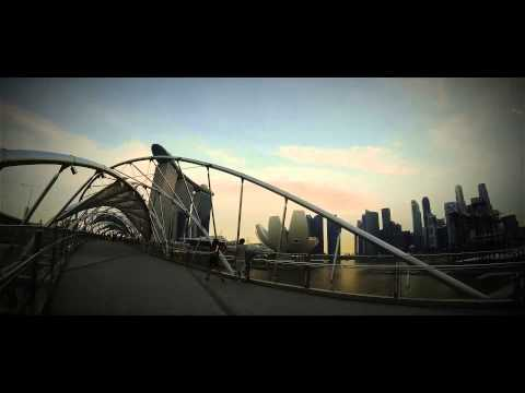 Time Lapse HD Helix Bridge, Singapore