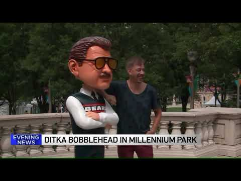 7-foot Tall Mike Ditka Bobblehead Debuts In Chicago