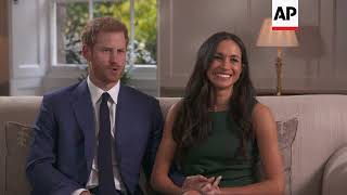 UK Royalty - Prince Harry and new fiance Meghan Markle at Kensington Palace / Prince Harry and Megha