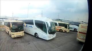 Llegando a la Central de Autobuses de Guadalajara Jalisco en Turistar Lujo Doble Piso