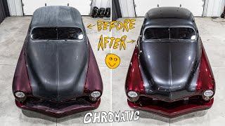 70 Year Old Mercury Goes Through A Heavy Paint Transformation - Auto Detailing
