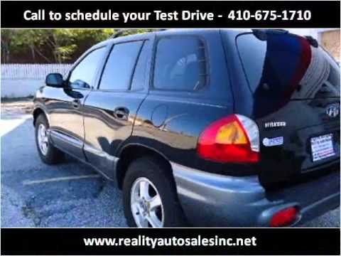 2004 Hyundai Santa Fe Used Cars Baltimore MD
