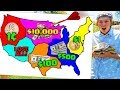 Throwing Darts at Map & Win the Money it Lands on!! *$10,000 GRAND PRIZE*