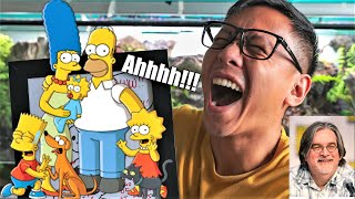Reacting to the Original Simpsons Artwork That Matt Groening Sent Me | Vlog #1121