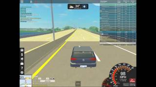 ROBLOX Ultimate Driving Police Chase Running in the 90s
