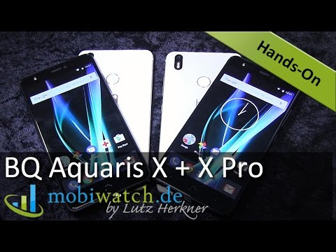 BQ Aquaris X + X Pro: Alle Infos und erste Eindrcke der eleganten Preisbrecher