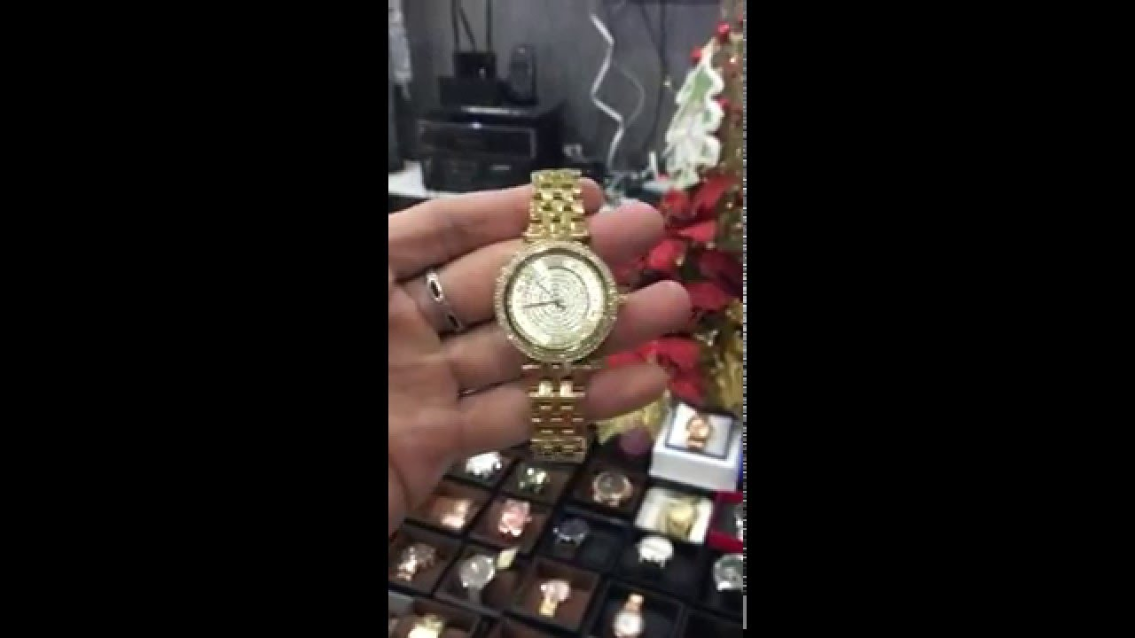 f07ec1523e76 Michael Kors Women s Mini Darci Gold-Tone Watch MK3445 - YouTube
