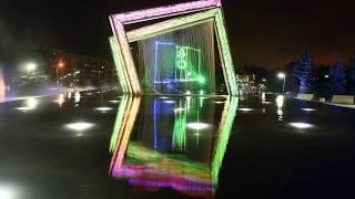 Суперсовременный фонтан на площади Лемаева в Нижнекамске HD