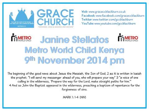 Janine Stellatos - Metro World Child Kenya (9th November 2014 pm)