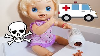 Gambar cover BABY ALIVE Emily Goes To Hospital Because She Snuck Into The Medicine!