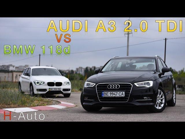 Задний или передний привод? Обзор Audi A3 2.0 TDI в сравнении с BMW 118d.