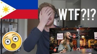 "(WTF?!?) Morissette Amon performs ""Rise Up"" LIVE on Wish 107.5 Bus // PHILIPPINES MUSIC REACTION"