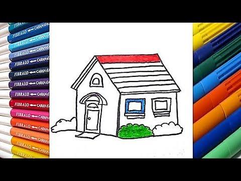 Como Dibujar y Colorear una Casa de Arco Iris - Dibujos para Niños ...
