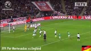Goal 9: per mertesacker vs england 11/19/13