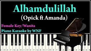 Opick ft Amanda Alhamdulillah Karaoke Versi Wanita