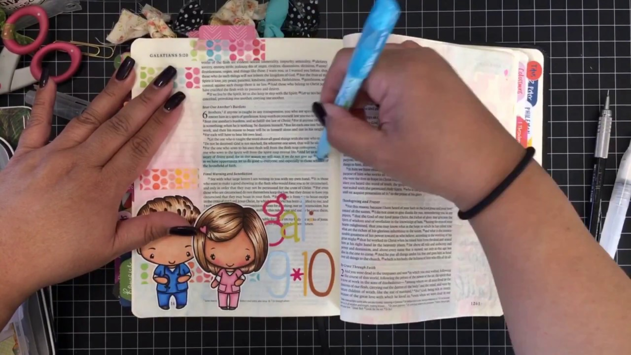 Bible Journaling With The Greeting Farm Stamps Youtube