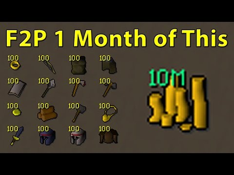 F2P 10M In 1 Month | 600k An Hour | High Alch Selling | Free To Play Old School Runescape 2007 OSRS