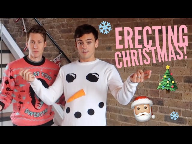 Screwing and Erecting a Black-Daley Christmas Part 1 | Tom Daley