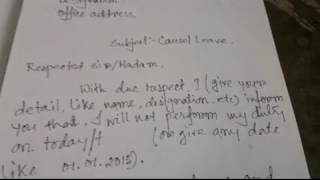 How to Write Leave application at school ClipFAIL