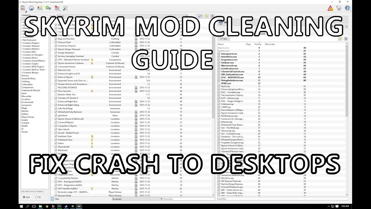 How To: Cleaning Skyrim Mods with Mod Organizer