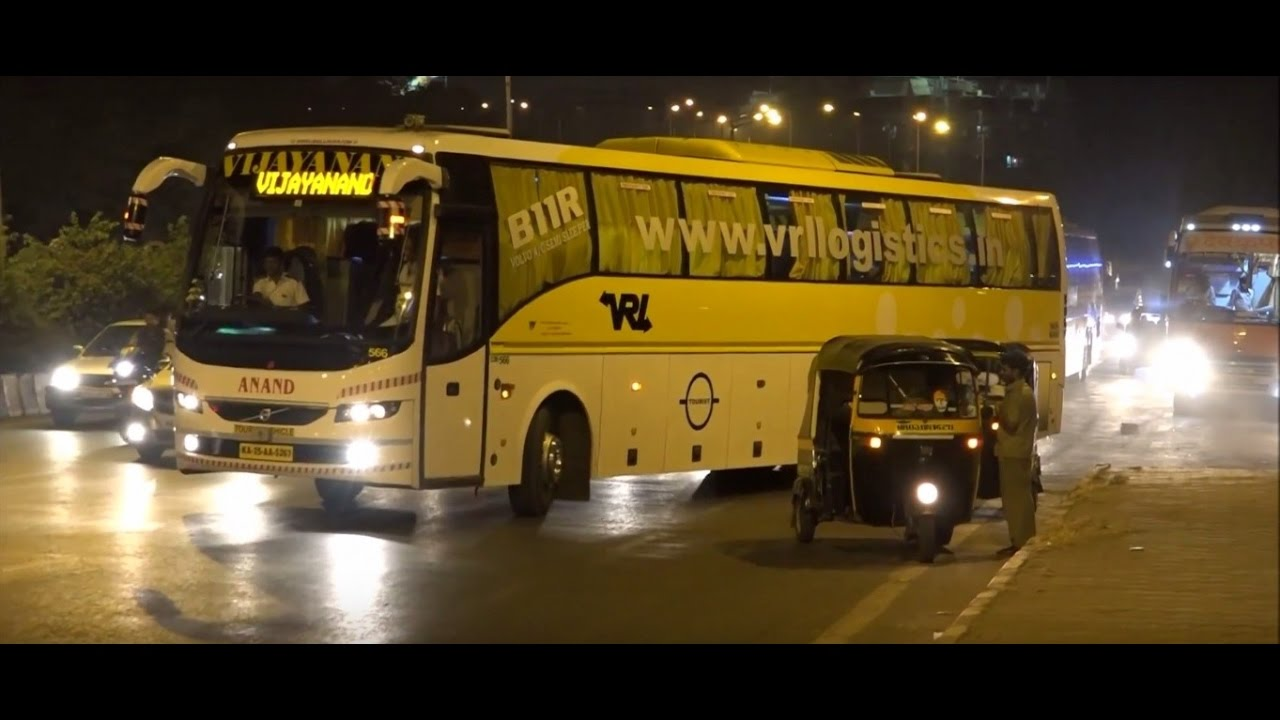 22 Magnificient, Colourful Volvo Buses At Night In Glittering Mumbai, India  !!!