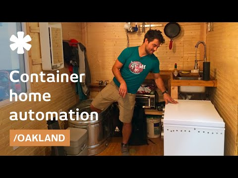 CA automated container home on a budget obeys voice commands