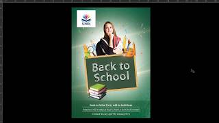 learn how to design back to school flyer design in photoshop - Urdu & hindi