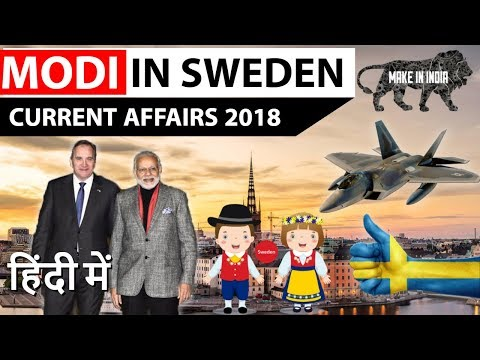 Modi in Sweden - First India Nordic Summit - Current Affairs 2018