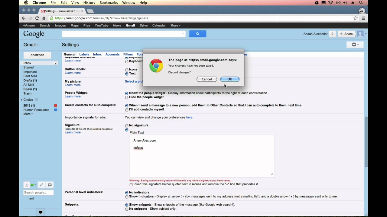 Gmail Signature - Display Rich Text Formatting Options