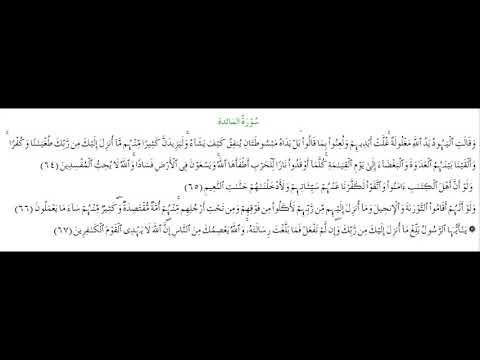 SURAH AL-MAEDA #AYAT 64-67: 17th May 2021