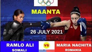 Ramla Ali (Somalia) Vs. Maria nachita  (Romania)