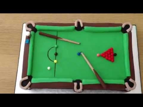 Snooker Table Fondant Cake Youtube