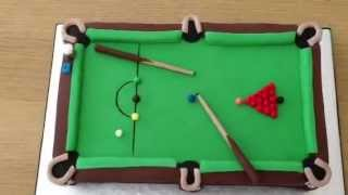 Snooker Table Fondant Cake