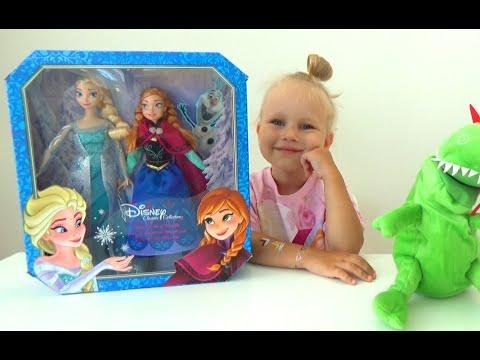 Анна и Эльза Холодное Сердце куклы распаковка Anna and Elsa Frozen dolls unboxing