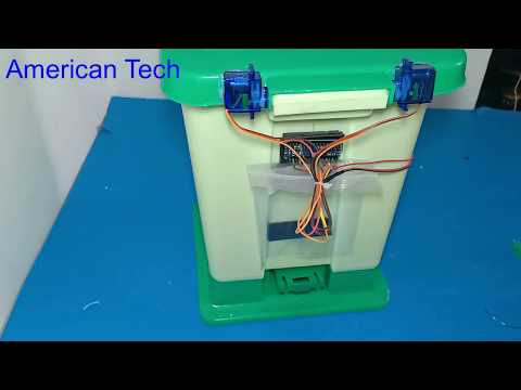 How to make a smart trash bin using Arduino Nano , science project 2019