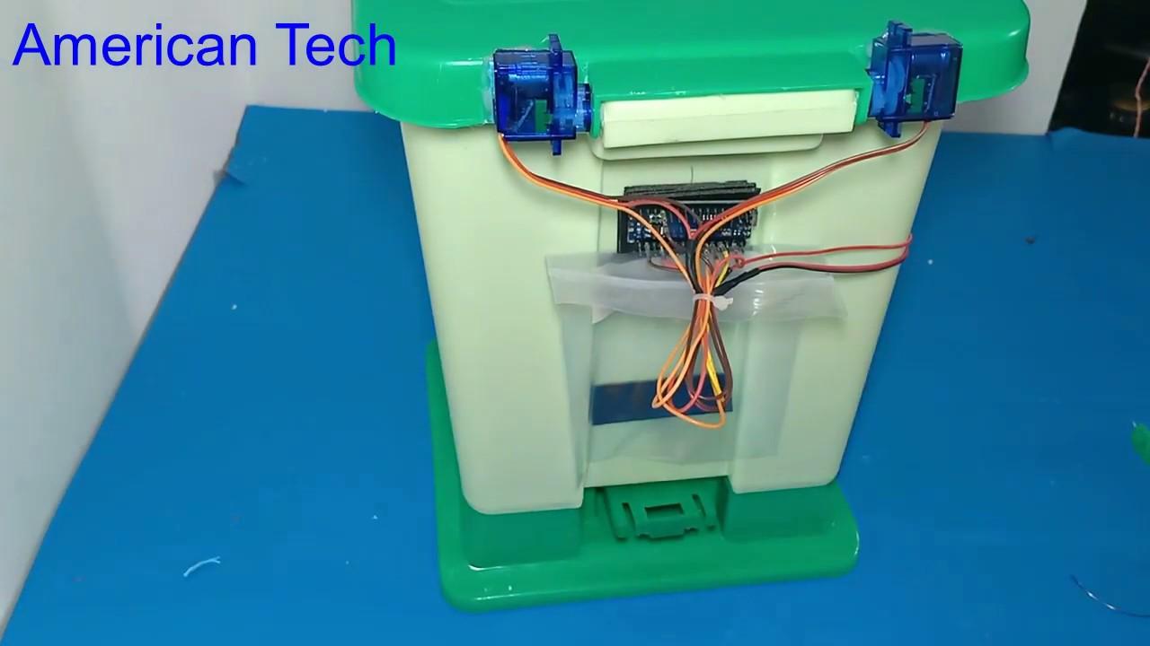 How to make a smart trash bin using