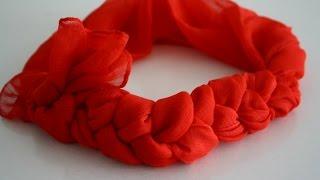 МК как быстро и красиво завязать шарф