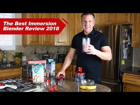 XProject Immersion Blender Review 2018丨How To Make Strawberry Banana Smoothie (Healthy Recipe)