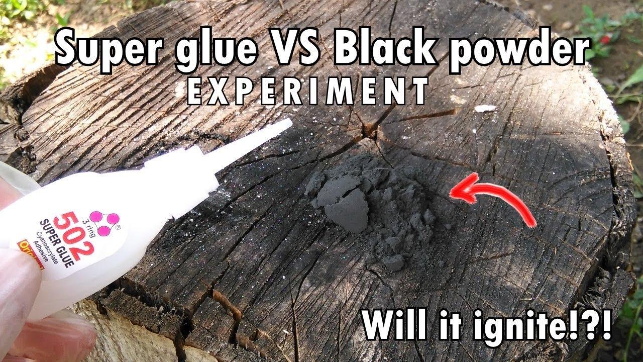 Download SUPER GLUE vs BLACK POWDER! Will it ignite!?! | Experiment