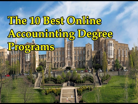 Accredited Online Accounting Degree The 10 Best Online Accounting Degree Programs Online Education