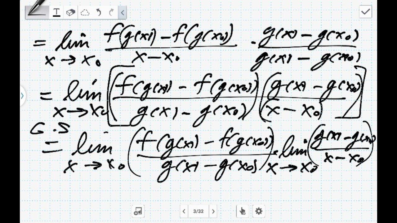 Beweis-Die Kettenregel der Differentialrechnung (Analysis) - YouTube