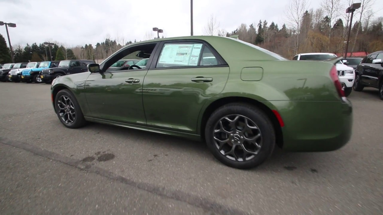2018 Chrysler 300 S Awd Green Metallic Jh208422